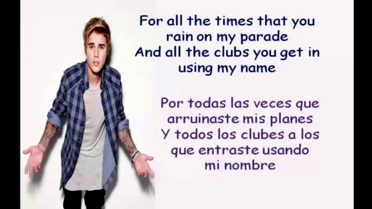 Love yourself justin bieber letra ingles