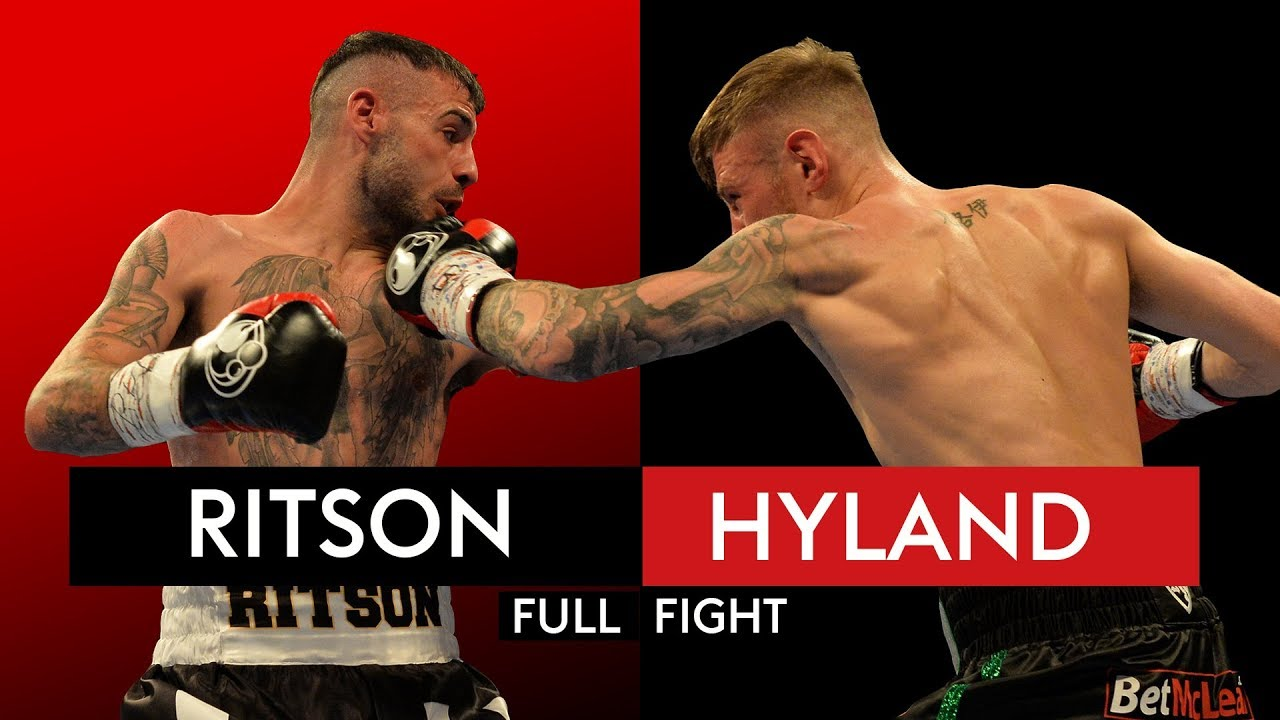 full fight lewis ritson blasts out paul hyland jnr in one round