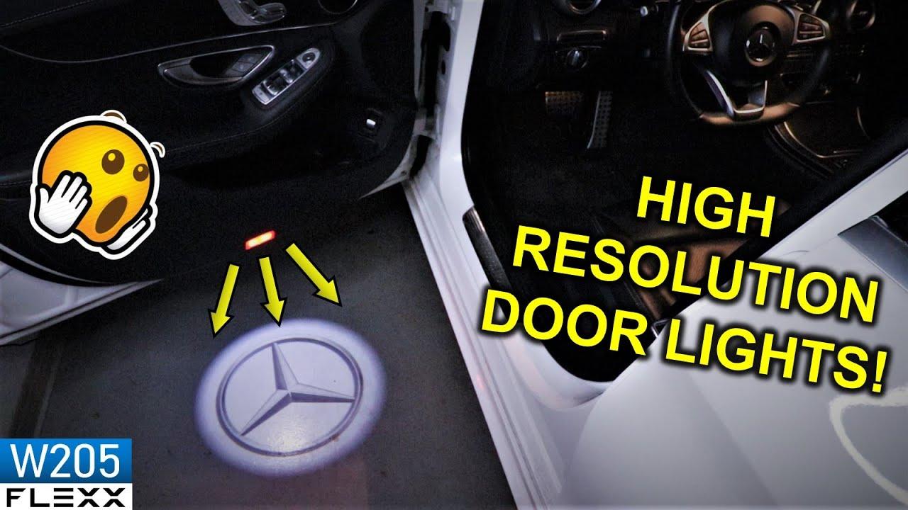 1 Highest Resolution Mercedes Logo Courtesy Welcome Door Lights Youtube