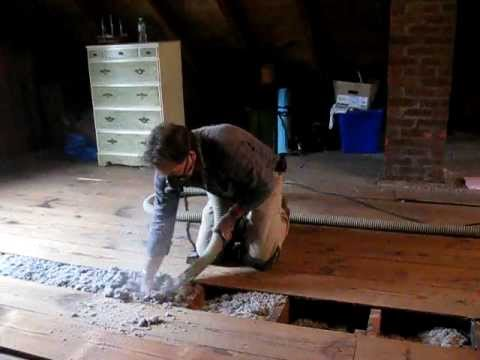 Installing Blown In Cellulose Insulation Under Attic Floor