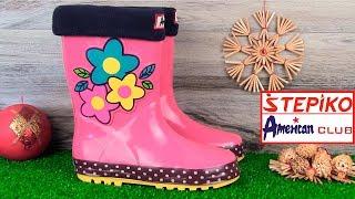 Детские резиновые сапоги American club 327/18-1 (фуксия). Видео обзор от STEPIKO