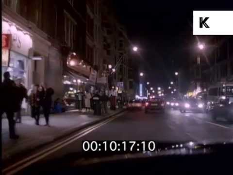 1990s Night Drive Through Central London, Theatreland