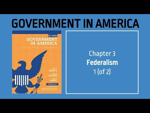 AP US Government - Chapter 3 -  Federalism -  1 (of 2)