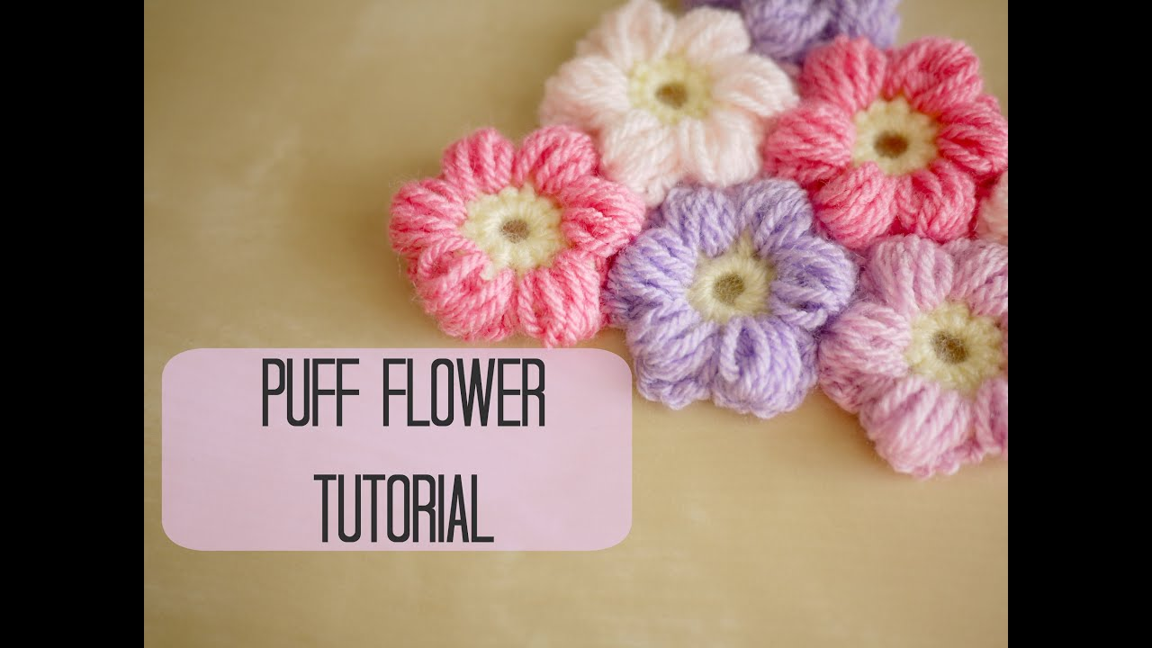 Crochet A Flower : CROCHET: How to crochet a puff flower Bella Coco - YouTube