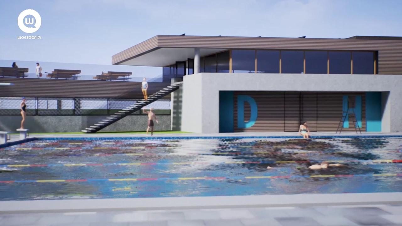 Voorlopig ontwerp nieuw zwembad statenland oudewater woerden tv
