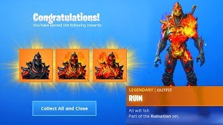 How TO UNLOCK ALL PHASES Skin RUINA in Fortnite... *KEYS LOCATIONS*