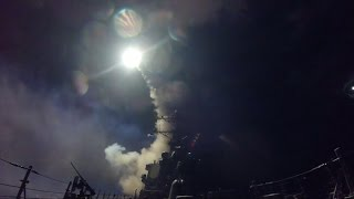 U.S. warships fire 59 missiles on Syrian airfield
