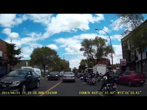 Bikers on the streets of Montreal