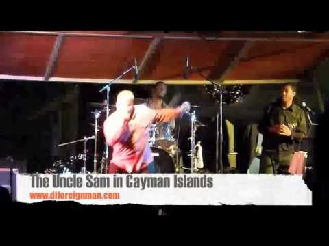 Uncle Sam (Di Foreign Man) in Cayman islands Pirates Fest