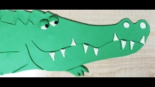 How to make an alligator with Play-Doh. Granny B. shows you how....