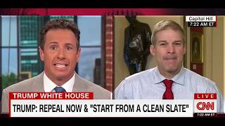 Jim Jordan Educates CNN's Chris Cuomo on Obamacare Repeal: 'Chris, Chris, Chris...' thumbnail