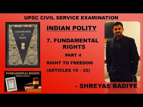 Indian Polity by Laxmikant | Fundamental Rights | Right to F