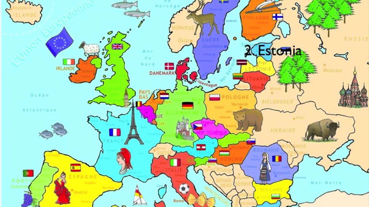 Najmadrzejsze Kraje Europy Youtube