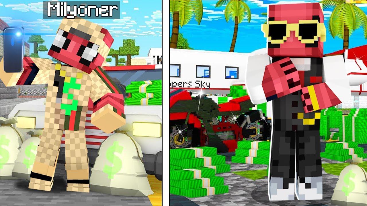 FAKİRİN MİLYONER HAYATI! 🤑 - Minecraft