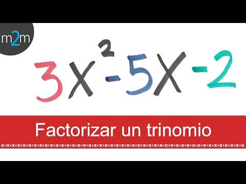 Factorización De Un Trinomio │ Ax²+bx+c