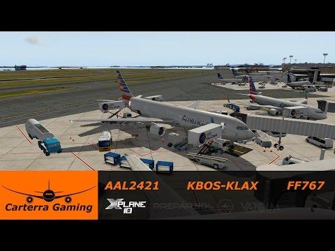 Download Aal2421 Kbos Klax Flight Factor 767 X Plane 10