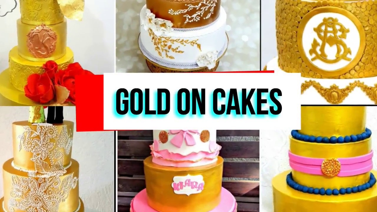 How To Make Gold Colour Cakes
