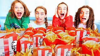 WHO CAN EAT THE MOST FRIES w/The Norris Nuts
