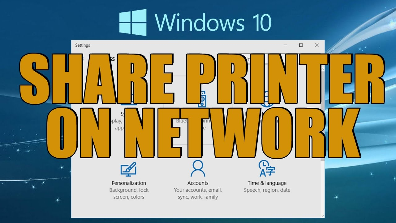 how to connect to network printer windows 10