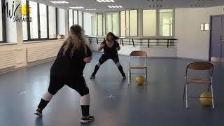 Cours de Gym Dynamique et Balle Paille par Marie et Sandra, Mars 2021