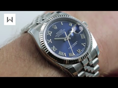 Rolex Oyster Perpetual Datejust Blue 116234 Luxury Watch Review