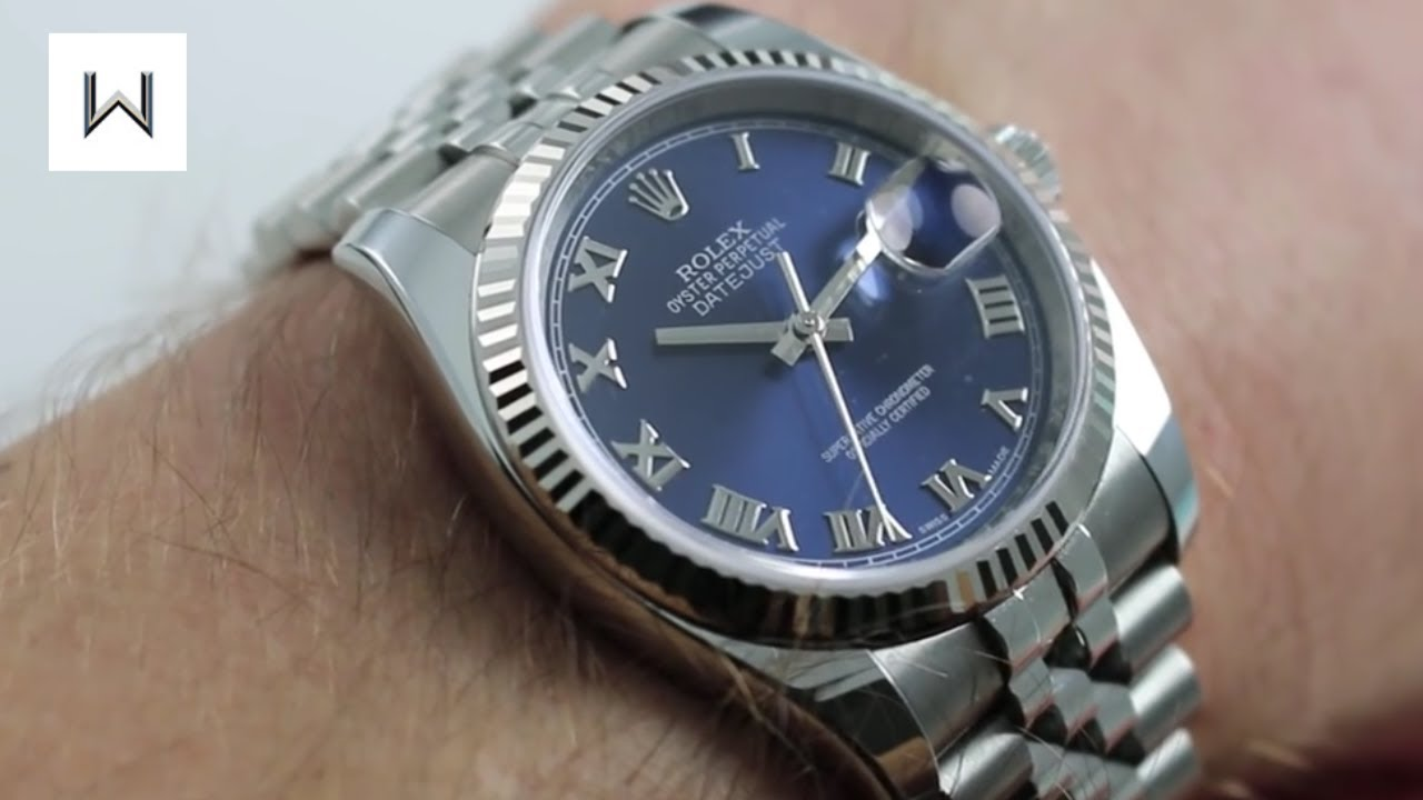 Rolex Datejust Blue Dial Roman Numerals 116234 Luxury