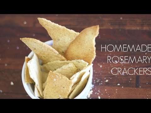 Homemade Rosemary Crackers