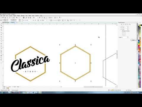 Belajar CorelDraw: Tutorial Membuat Logo Olshop sendiri.