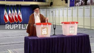 Iran: Supreme Leader Khamenei casts his vote in presidential election