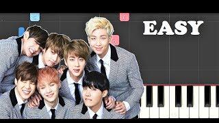 BTS - Epiphany (EASY Piano Tutorial)