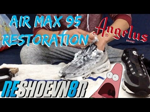 Air Max 95 Restoration! How To Clean Air Max 95's!