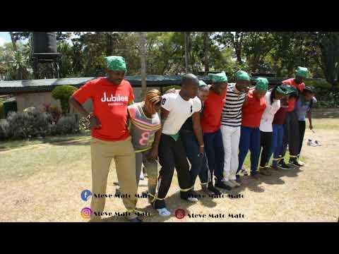 Team-Building In Kenya - The Tied Up Run! - Jubilee Insurance Staff Team-Building Nairobi Kenya.