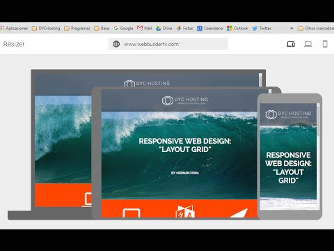 WYSIWYG Web Builder 11. How to use  Layout Grid to create responsive website (spanish)