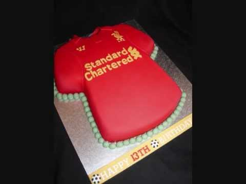 Liverpool Football Shirt Fondant Cake - YouTube