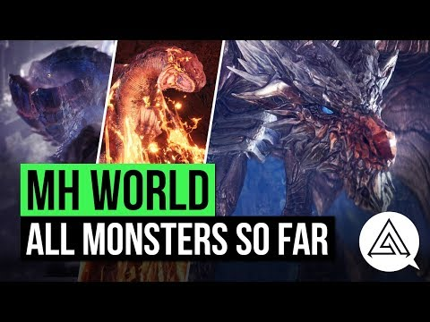 Monster Hunter World | All Monsters So Far (Updated Monster List)