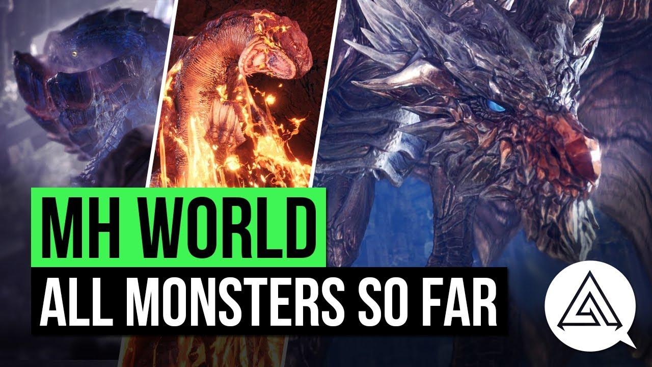 Monster Hunter World | All Monsters So Far (Updated Monster List)