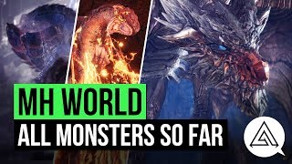 Monster Hunter World   All Monsters So Far (Updated Monster List)
