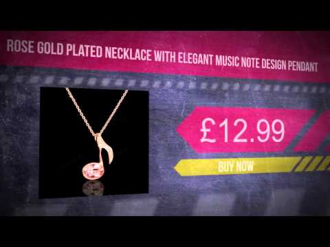 Rose Gold Plated Necklace With Elegant Music Note Design Pendant