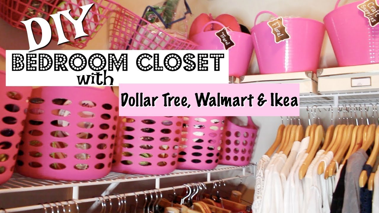 Bedroom Closet Organization With Dollar Tree Ikea Walmart