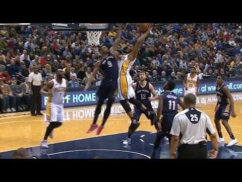 Thaddeus Young monster slam dunk | Indiana Pacers vs New Orleans Pelicans