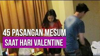 Lihat Reaksi Pasangan Mesum saat Hari Valentine di Surabaya