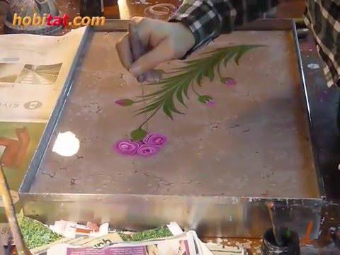 Ebru sanatı, Karanfil yapımı...  Sanatçı: Eda Özbekkangay