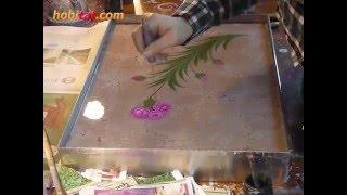 Ebru sanatı Karanfil yapımı Sanatçı Eda Özbekkangay