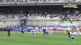 El gol del: Pumas vs Cruz Azul (0 - 1)