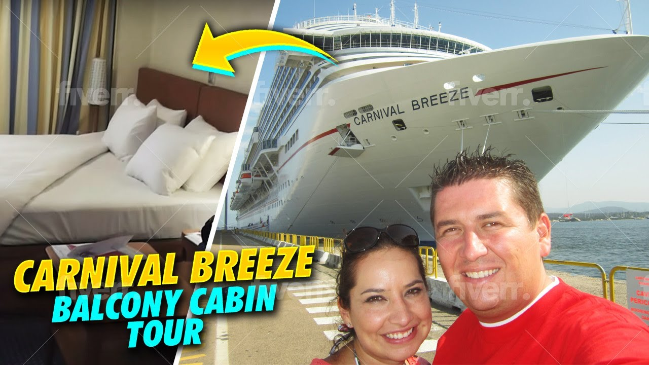 Carnival cruise cove balcony tour youtube for Balcony on carnival cruise