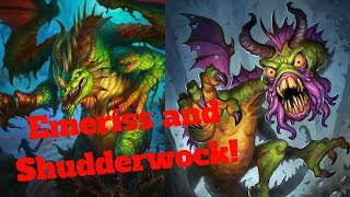 Emeriss Shudderwock Combo! Million Attack Minions! [Hearthstone Game of the Day]