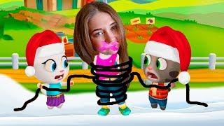 Сборник! Новогодние серии в игре Том за золотом! Санта Том против Эльфа Анджэлы от Каталекс!
