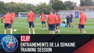 Training session - entrainements de la semaine with kylian mbappé, neymar jr