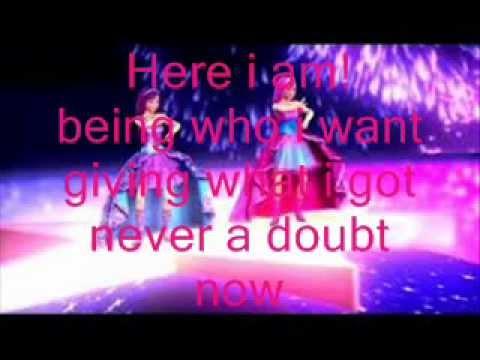 Barbie The Princess & The Popstar Here i Am (Keira Version)Lyric