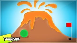 VOLCANO IN MINIGOLF MAP! (Golf It)